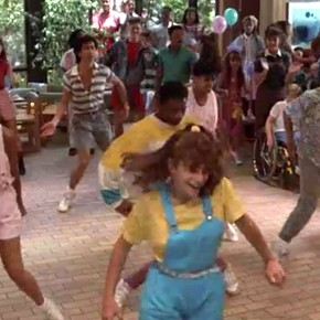 Mac and Me's brainwashing McDonald's dance scene