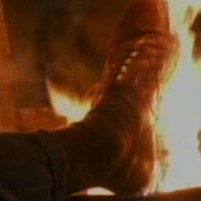 Richard Norton's flaming feet