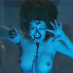 Topless demon shower scene!