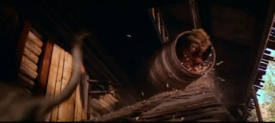 Tippi Hedren doing a barrel-roll